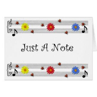 Nota de la música que piensa en usted tarjeta