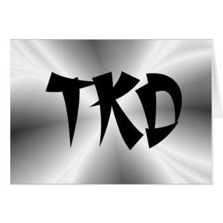 Nota de plata de los artes marciales TKD Tarjeta Pequeña
