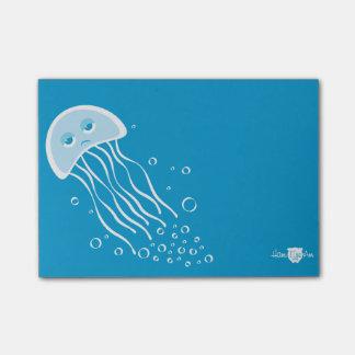 Nota de post-it apática de las medusas