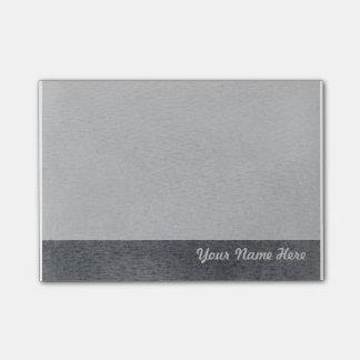 Nota de post-it gris