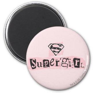 Nota de rescate del logotipo de Supergirl Imán Redondo 5 Cm