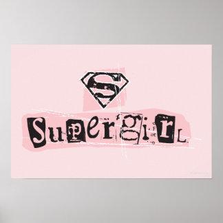 Nota de rescate del logotipo de Supergirl Póster