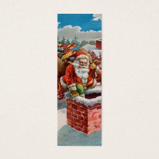 ¿Nota del AMOR de Santa de la chimenea - traviesa Tarjeta De Visita Mini
