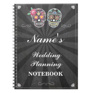 Nota del planeamiento del boda del cuaderno del