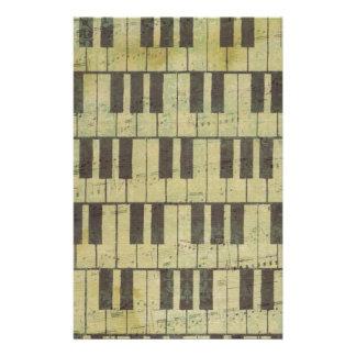 Nota dominante de la música del piano papelería