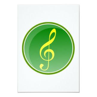 Nota musical invitacion personal