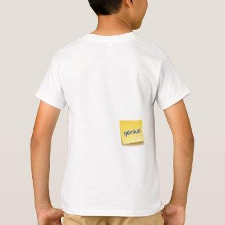Nota pegajosa del genio camiseta