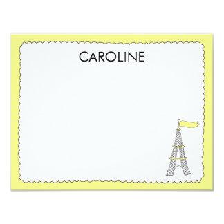 Nota plana de la torre Eiffel el   Invitación Personalizada