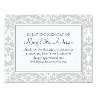 Nota plana fúnebre de la pérdida de la tarjeta de
