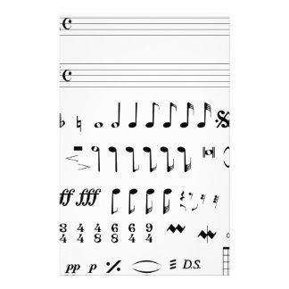Notación musical papelería
