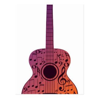 Notas 2 de la guitarra y de la música postal