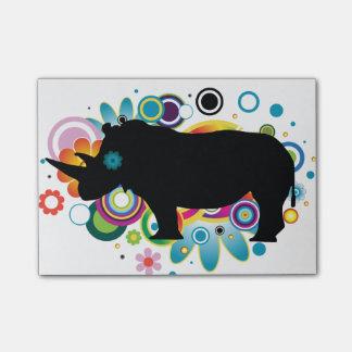 Notas abstractas del Poste-it® del rinoceronte