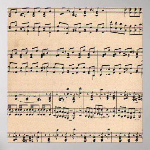 Valor de la partitura vintage