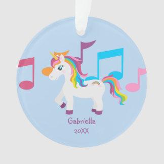 Notas brillantes de la música con el ornamento del