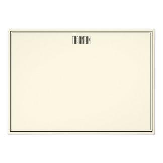 Notas de agradecimiento de la hoja de la lata invitación 12,7 x 17,8 cm