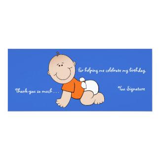 Notas de agradecimiento del fiesta del bebé invitación 10,1 x 23,5 cm