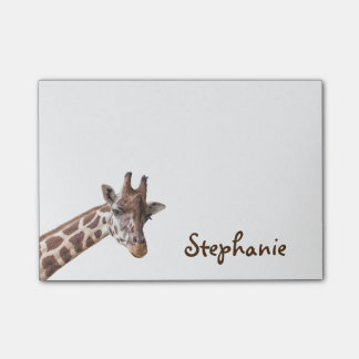 Notas de conocidas femeninas de la jirafa