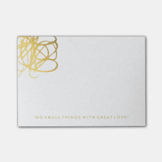 Notas de elegantes del efecto del oro