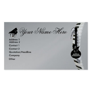 Notas de la guitarra y de la música del teclado de plantilla de tarjeta de negocio