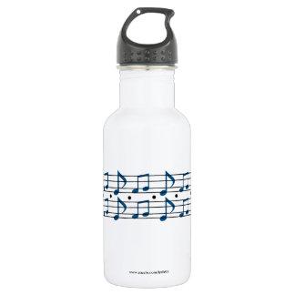 Notas de la música botella de agua