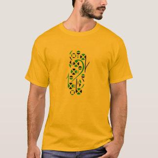 Notas de la música de la bandera de Jamaica Camiseta