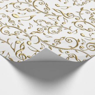 Notas de la música del oro sobre el papel de