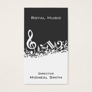 Notas de la música tarjeta de negocios