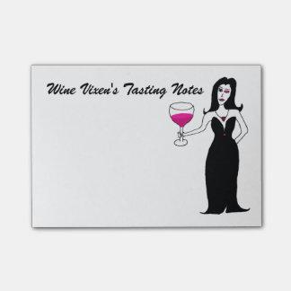 Notas de la prueba del Vixen del vino