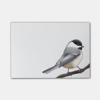 Notas de post-it capsuladas negro del pájaro del