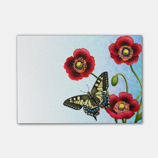 Notas de post-it de la mariposa de Swallowtail del