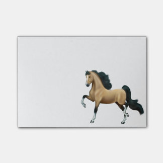 Notas de post-it del caballo de Saddlebred Gaited