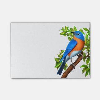 Notas de post-it del este del arte del Bluebird