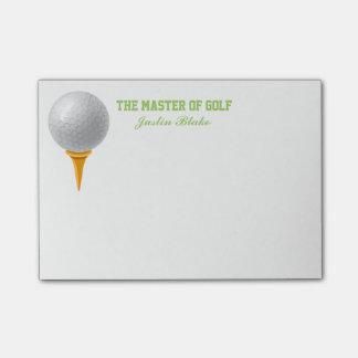 Notas de post-it del golf