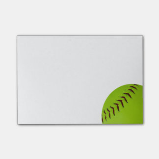 notas de post-it del softball