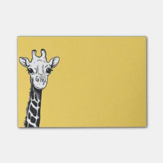 Notas de post-it felices de la jirafa