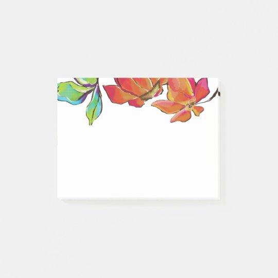 Notas de post-it florales brillantes