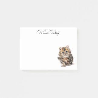 Notas de post-it personalizadas gatito lindo
