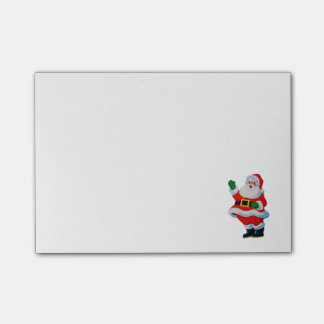 Notas de post-it retras de Papá Noel del navidad