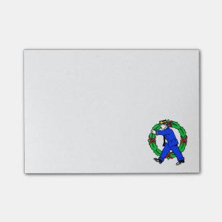 Notas de post-it retras del cartero del navidad