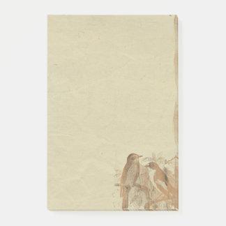 Notas de post-it retras del papel de pergamino de