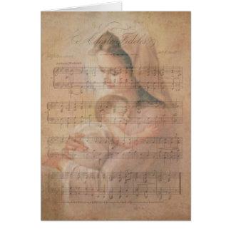 Notas del acebo de Jesús del bebé del Virgen María Tarjeta De Felicitación