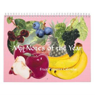 Notas del calendario de la fruta del año