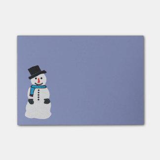 Notas del Poste-it® del muñeco de nieve