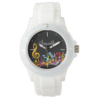 Notas embarulladas coloridas personalizadas de la reloj de mano