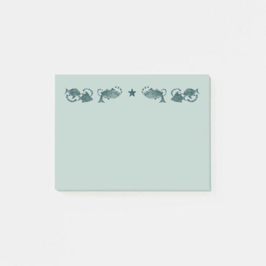 Notas flotantes del Poste-it® de la turquesa de