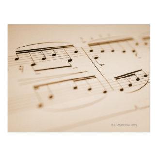 Notas musicales 2 postal