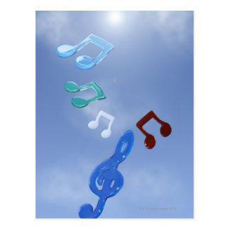 Notas musicales 3 postal