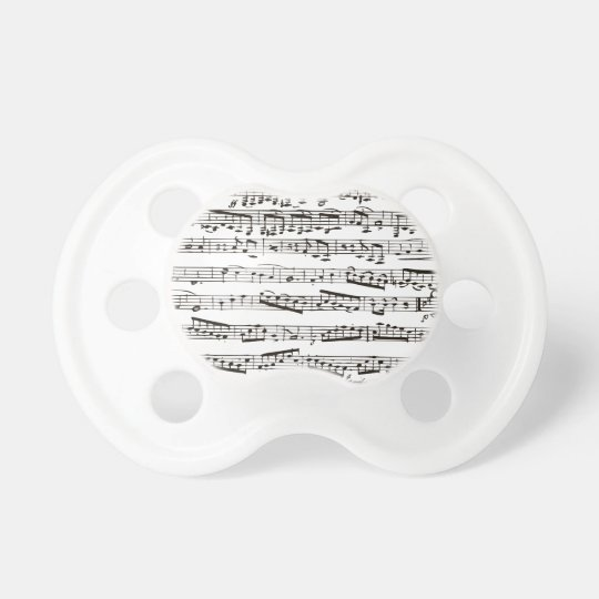 Notas musicales blancos y negros chupetes