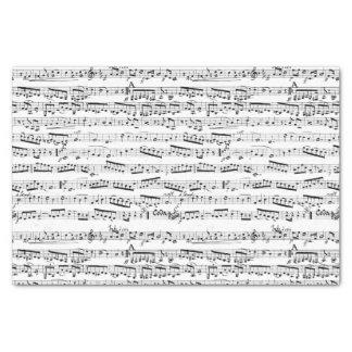 Notas musicales blancos y negros papel de seda