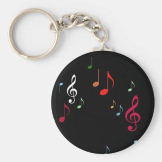 notas musicales coloridas llavero